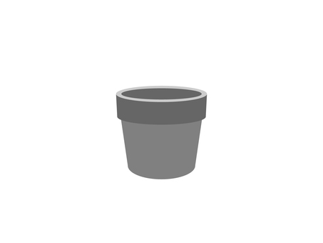 Flower pot (monochrome)