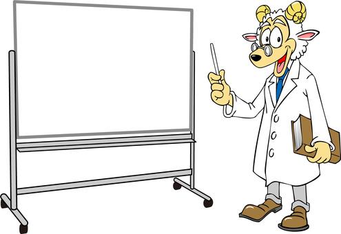 羊解釋使用白板