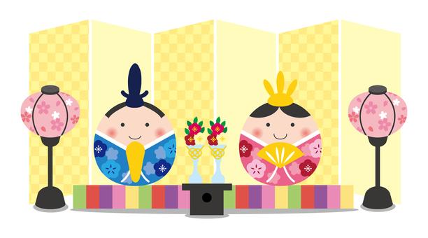 Hina dolls and princes