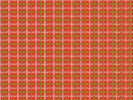 Knit Pattern Check - Red
