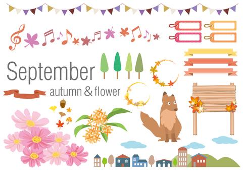 Illustration set of September