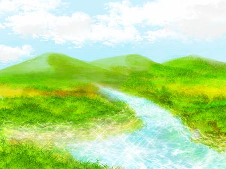 물가의 풍경