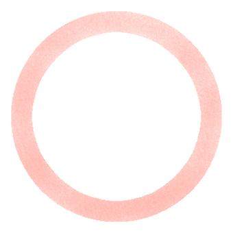 원형 프레임 (핑크)