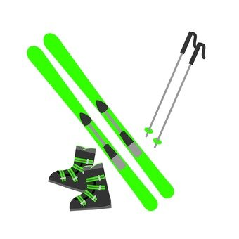 A set of ski tools