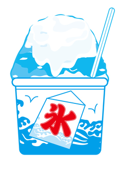 Shaved ice Blue Hawaii condensed milk