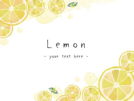 Lemon watercolor message card