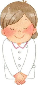 Nurse who bows