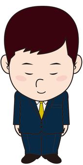 Bowing series (male businessman)