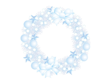 Christmas wreath _ blue