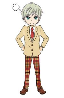Angry boy student tea (Punpun 07)