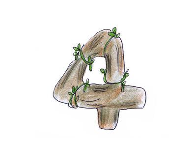 Number (wood 4)