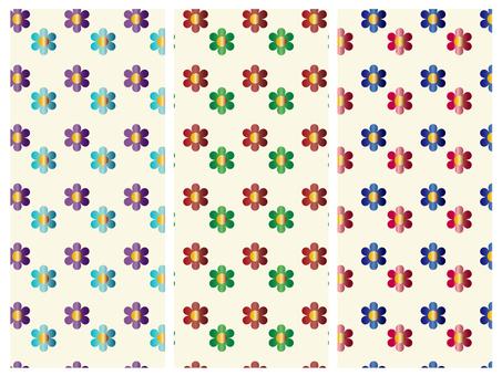 Flower pattern material set