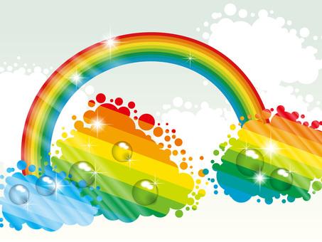 彩虹和天空背景