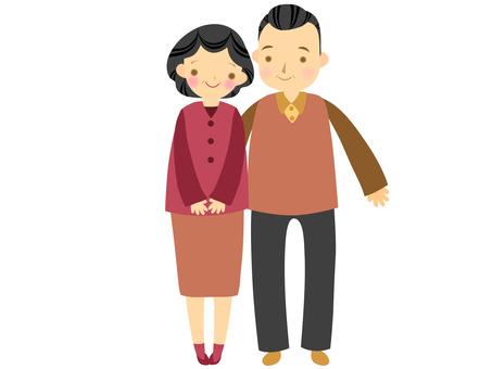 50代/60代の夫婦の全身