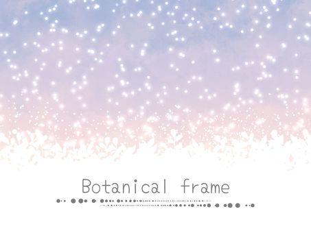 水彩畫框02 /夜空和植物的紫色b