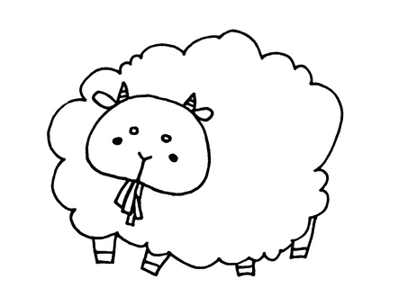 1 of sheep 1 to eat food