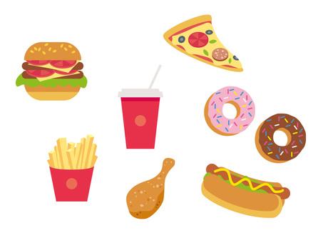 Various fast food