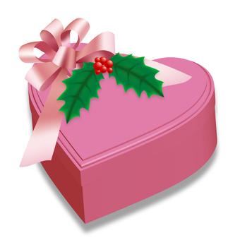 Christmas present gift and ribbon