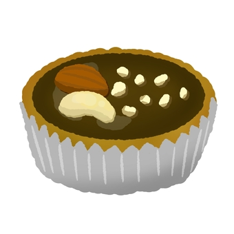 Various nuts chocolate tart 2