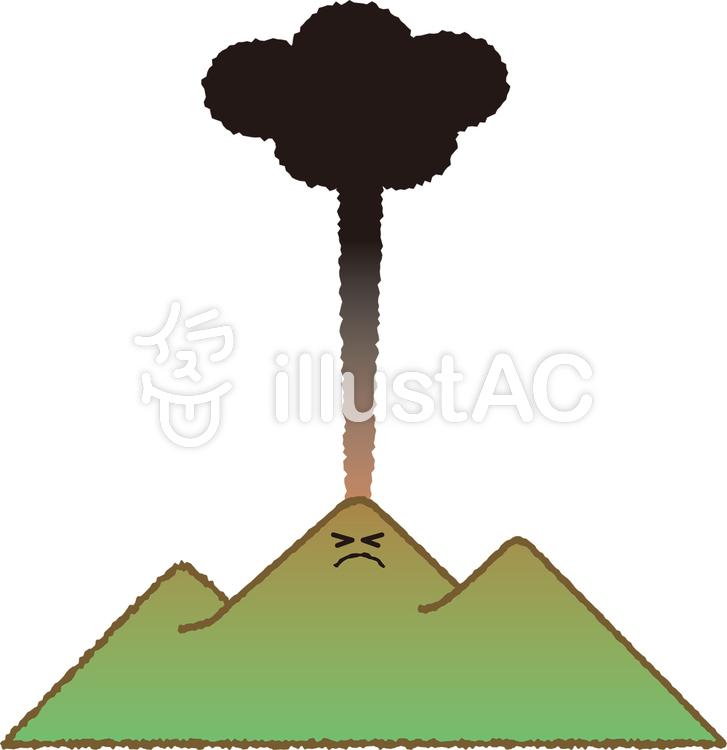 噴火する霧島山イラスト No 378147無料イラストならイラストac