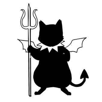 Kuroneko silhouette devil