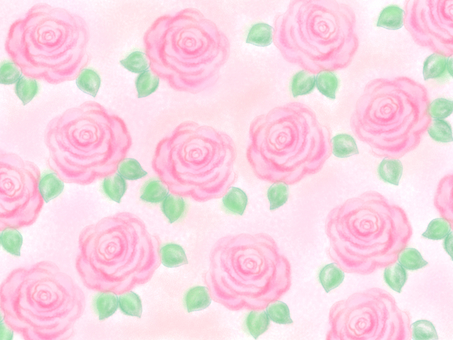 Hand-drawn rose too Much background (light pink)