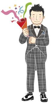 A man wearing a tuxedo