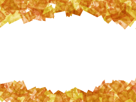Watercolor painting like autumn leaves frame