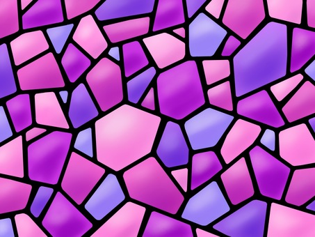 Stained glass mosaic pink purple