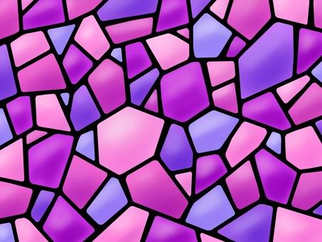 彩色玻璃馬賽克粉紅色紫色