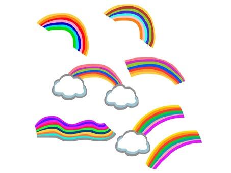 Various rainbow