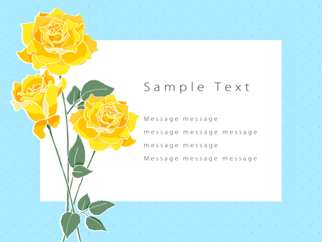 Rose postcard 01 (yellow)