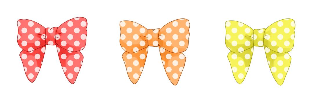 Dot ribbon (warm color)