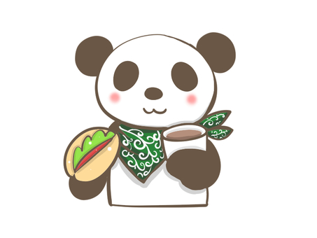 Lunch time panda
