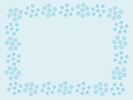 Small flower frame (blue)