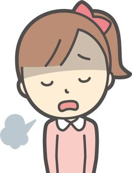 女の子ピンク長袖-025-バスト