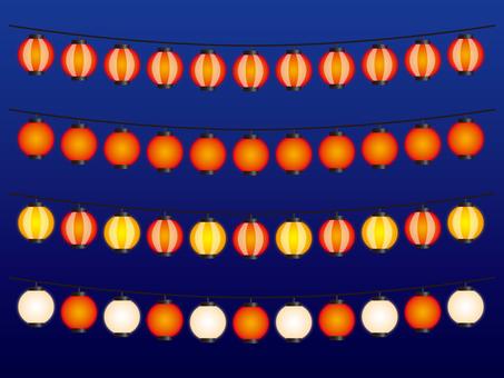 Set of fluffy lanterns