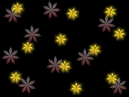 Flower scattering - gold