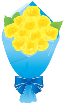 Bouquet of yellow roses Father's Day