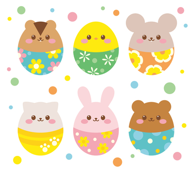 Easter animal egg