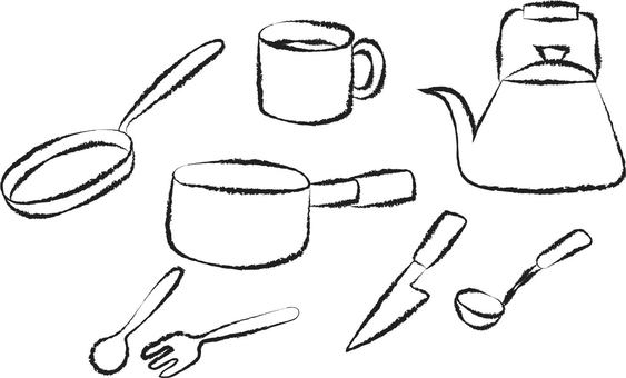 Kitchen Goods Line drawing