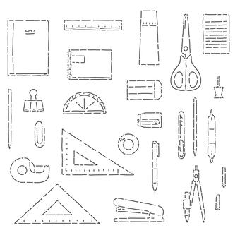 Stationery simple material set