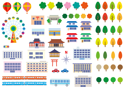 Illustration Map Material _ 1