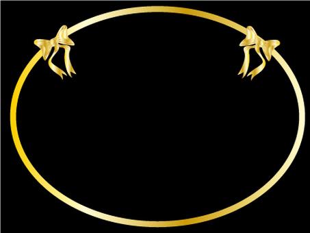 Ribbon frame (gold)