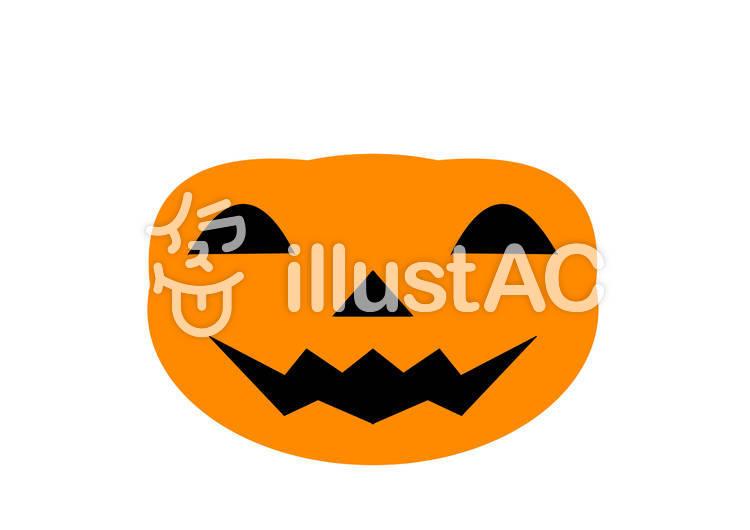 ハロウィン福笑いかぼちゃ顔パーツ印刷用イラスト No