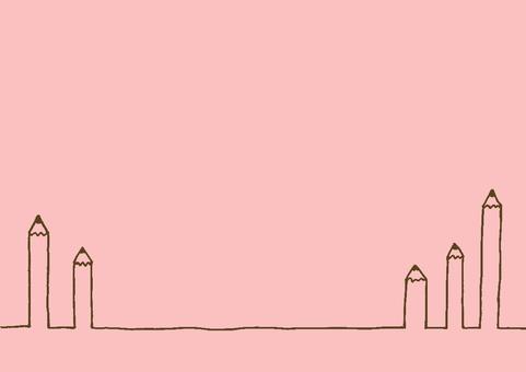 연필 핑크 브라운