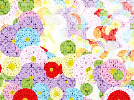 Japanese Pattern Dahlia Watermark