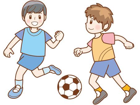 축구 소년 라인 B