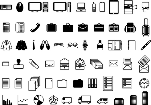 Business item icon set