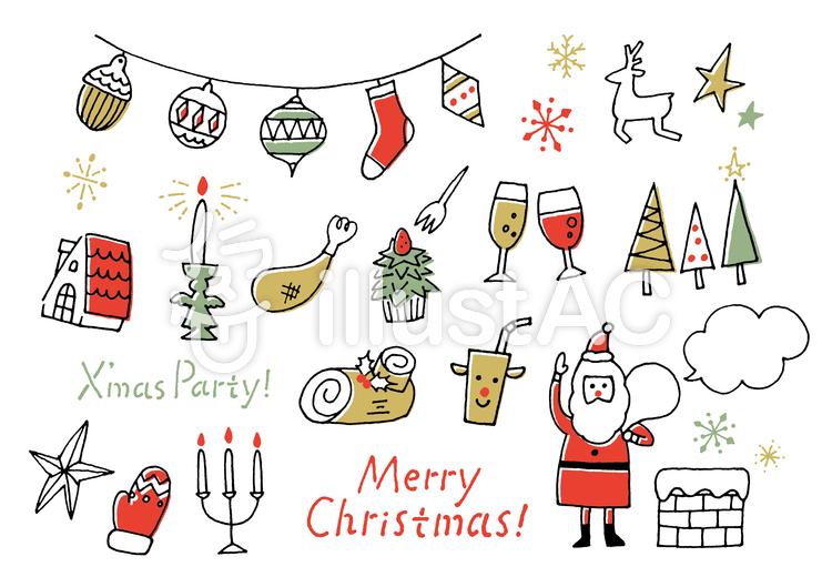 クリスマスパーティー手書きイラスト No 934371無料イラストなら